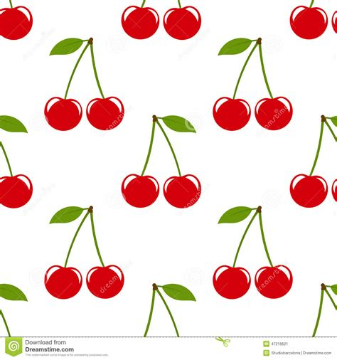 cherry pattern vector art cherry pattern stock vector image of flat leaf fabric