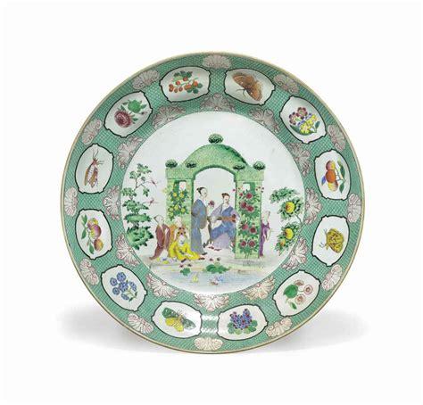 dish arbor a large export porcelain pronk arbor dish