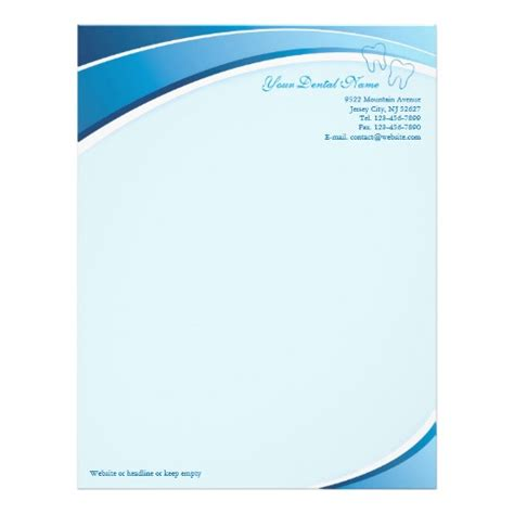 tooth stationery template dental letterhead custom dental letterhead templates