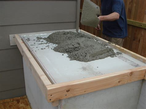 How To Do Cement Countertops by How To Build Outdoor Kitchen Cabinets