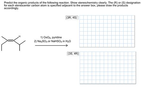 list please predict who the predict the organic products of the following reaction