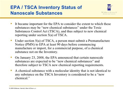 tsca section 5 nanotechnology in consumer products an update on