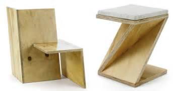 Minimalist Bedside Table no nonsense minimalism plywood slot work furniture set