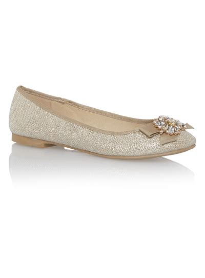 sainsburys shoes womens gold ballerina shoes tu clothing
