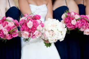 wedding flowers pink light pink pink wedding flowers bridal bouquet with bridesmaids onewed