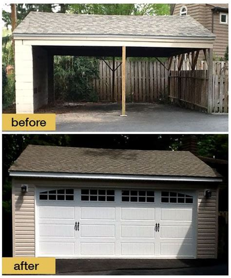 Convert Carport Into Garage by Custom Garage Doors Vertical High Lift Interior Garage