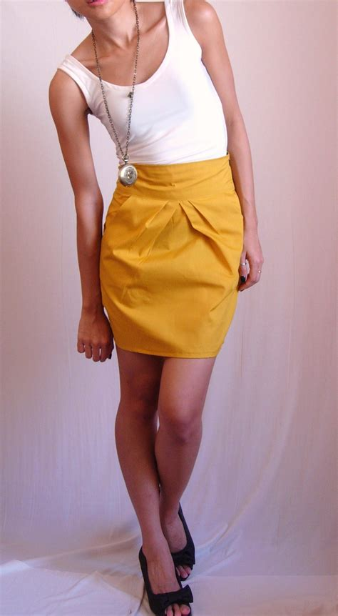 mustard color skirt mustard skirt sewing projects burdastyle
