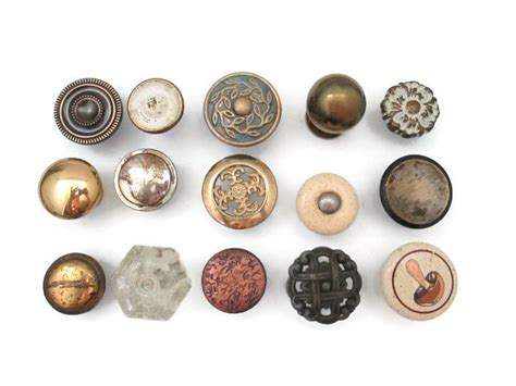 Dresser With Different Knobs by Clearance Lot Of 15 Different Vintage Drawer Knobs Instant