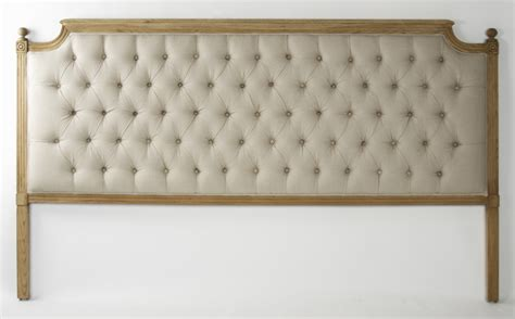 Linen Tufted Headboard by Louis Xvi Style Oak Linen Tufted Headboard King