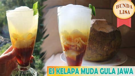 cara membuat es lilin kelapa muda segarnya es kelapa muda gula jawa cara membuat es kelapa