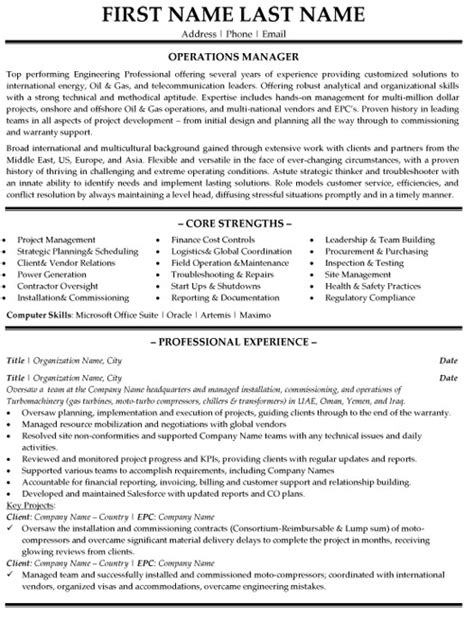 Sle Resume For Operations Manager sle operations manager resume 9 28 images resume sles for sales manager sle resumes sle