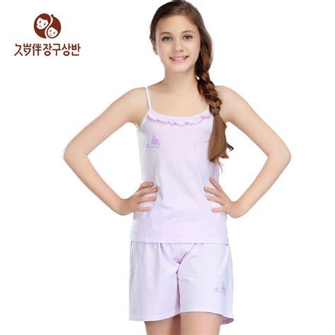 Aliexpress Models | summer girls round neck sleeveless pajamas nightwear kid