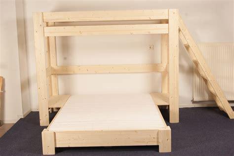 3 Bed 3 persoons bedden 3 persoonsbed sandy blankhouten meubels