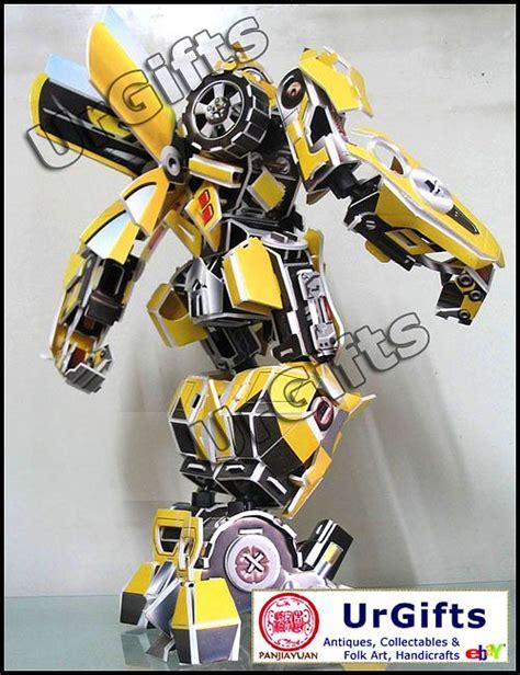 3d Metal Puzzle Bumblebee paper 3d puzzle robot model transformer bumble bee autobots statue figure new ebay