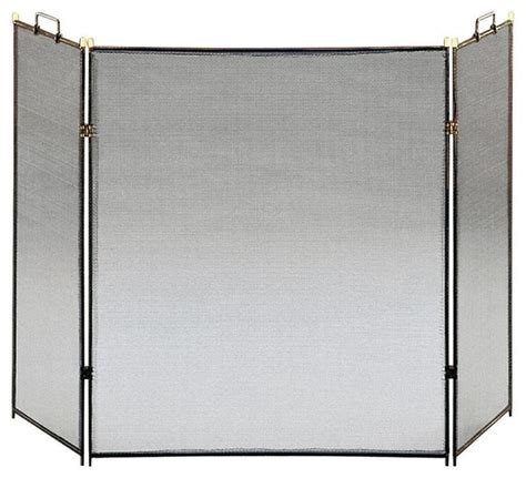 Square Fireplace Screen by Black Three Fold Square Screen