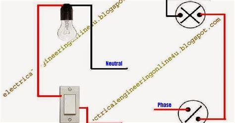 how to wire bulb by one way switch electrical 4u