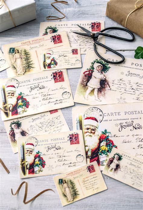 printable french postcards vintage french christmas postcards free printable