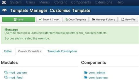 custom joomla template customize template