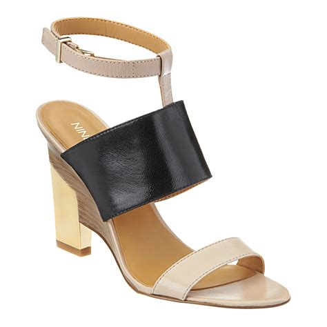 nine west sandals nine west neeway ankle sandals in beige black multi
