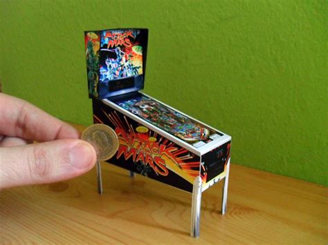 pinball card template miniature pinball machine click for printies great