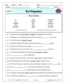 bill nye earthquakes worksheet answer sheet and two