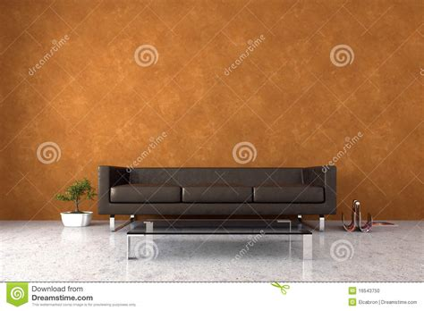 Stucco Walls Interior by Modern Interior With Venetian Stucco Wall Stock Photo