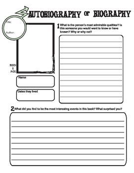 reading biography graphic organizer biography or autobiography graphic organizer for reading