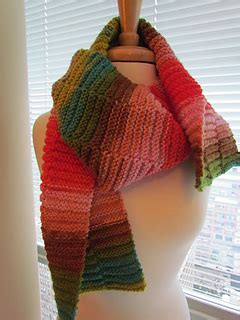 knitting pattern broken rib scarf ravelry horizon rib scarf pattern by krista werbil