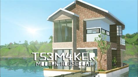 houseboats sims 3 sims 3 houseboat modern adventure hd youtube