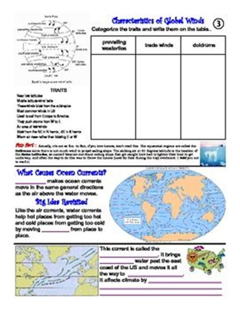 Currents Worksheet by 34 Best Oceans Images On Teaching Science