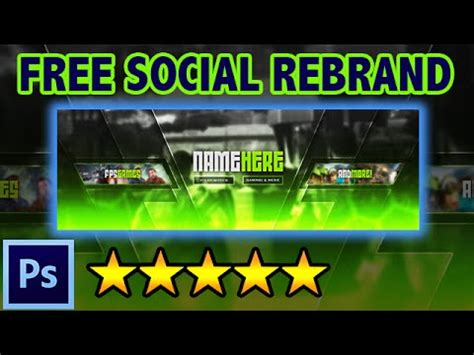 Free Social Media Rebrand Youtube Banner Twitter Cover Photoshop Template Free Rev 2 Social Media Banner Templates Free