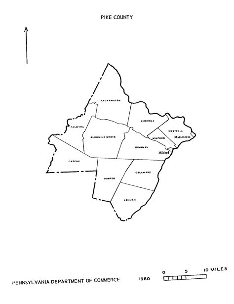 Pike County Pa Records Pa State Archives Pennsylvania County Municipalities Map