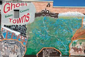 oregon ghost towns map ghosttown map mural 1