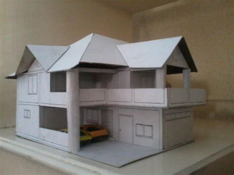 How To Make A House Out Of Construction Paper - model of our house in cardboard by ferdz30 on deviantart