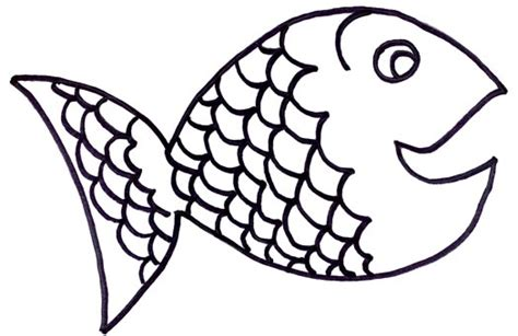 fish coloring page with scales rainbow fish clipart black and white clipartxtras