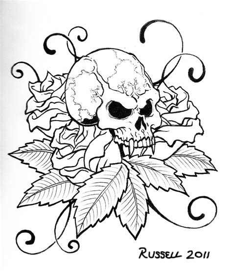 tattoo coloring books coloring pages printable skull coloring pages skull