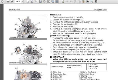kubota rtv 900 workshop manual rtv 1100 repair service