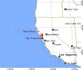 santa rosa california map my california