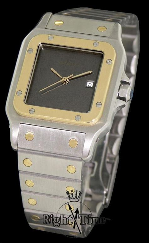 cartier santos 18kt ss automatic 296170 pre owned mens