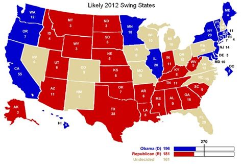 what are swing states 2012 election battleground map christian coalition
