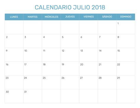 Calendario Mensual 2018 Calendario Mensual Para Imprimir A 241 O 2018