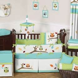Owl Crib Bedding For Boy Hooty Crib Bedding Collection By Sweet Jojo Designs