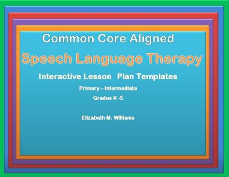 speech and language lesson plan template 17 best images about speech resources on
