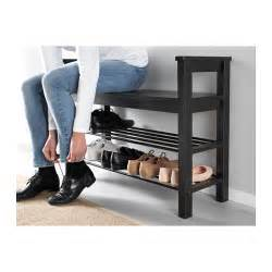 hemnes bench with shoe storage black brown 85x32 cm ikea