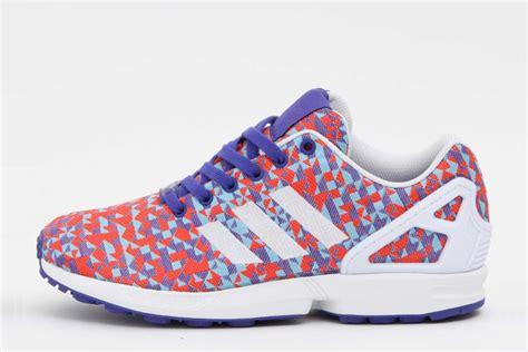 adidas zx flux blue pattern adidas originals zx flux weave red white blue