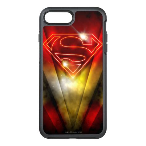 Superman Iphone 7 superman stylized shiny outline logo otterbox