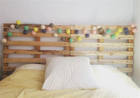 luces de colores ibid wood cabecero de cama con palets reciclados ibid wood