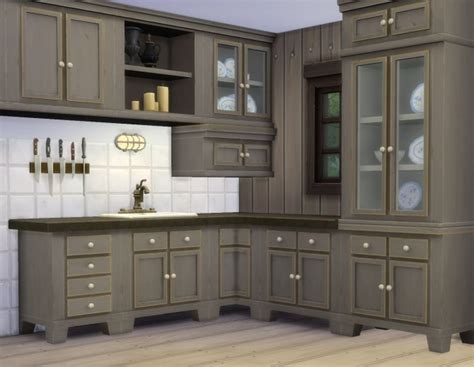 kitchen mod country kitchen by plasticbox at mod the sims 187 sims 4 updates