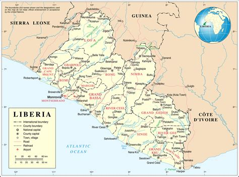 map of liberia list of cities in liberia