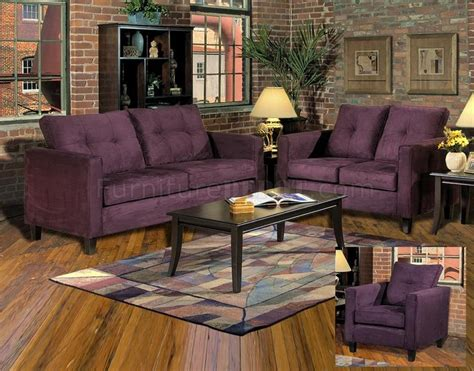 eggplant colored sofa 5900 heather sofa loveseat set in eggplant fabric by chelsea